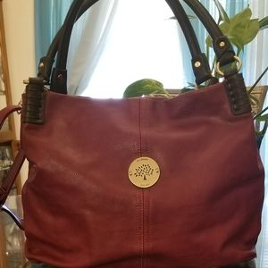 Beautiful Wine Colored  Mulberry Leather Bag